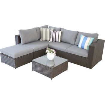 Sparks Outdoor 5 Piece Sofa Seating Group With Cushions Wayfair