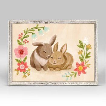 Holiday Christmas Bunny Love By Olivia Gibbs Print Wayfair