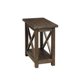 Farmhouse Style Distressed End Table Brown Pulaski Target