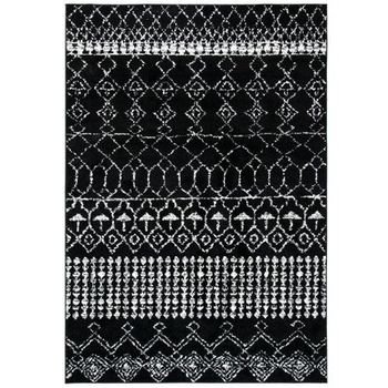 Cobos Geometric Black Area Rug Wayfair