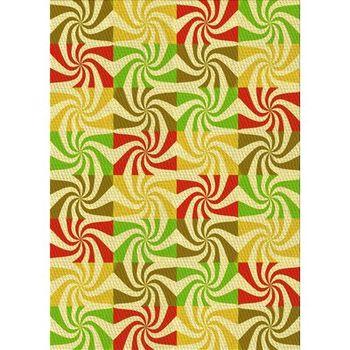 Abstract Wool Yellow Area Rug Wayfair