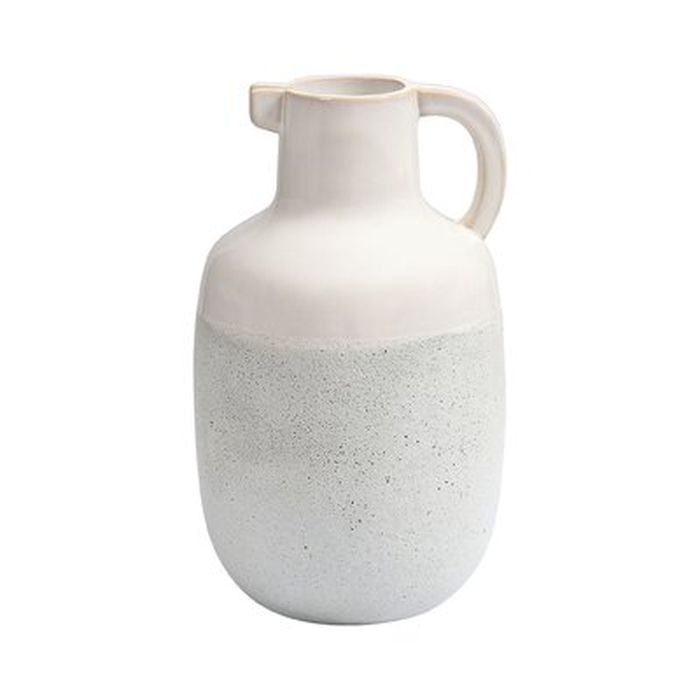 Larock Concord Earthenware Pitcher In Ivory And White Wayfair