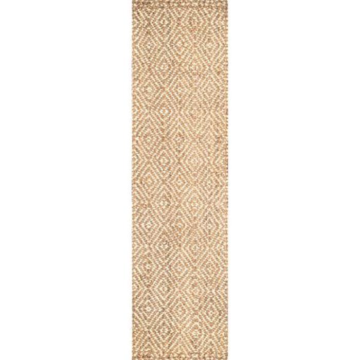 Jasiah Geometric Hand Tufted Jute Sisal Ivory Taupe Area Rug Birch Lane