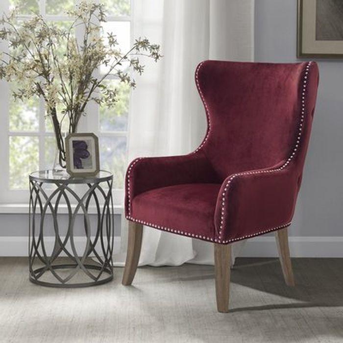 Garrison Button Tufted Wingback Chair Wayfair