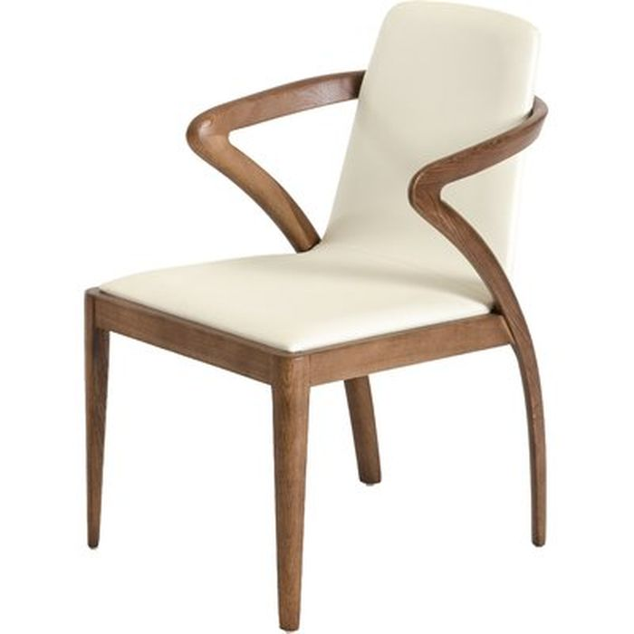 Mora Solid Wood Upholstered Dining Chair Allmodern