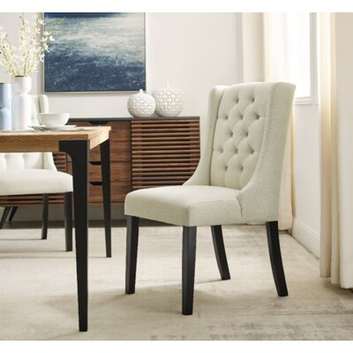 Arnoldine Tufted Linen Upholstered Parsons Chair Wayfair