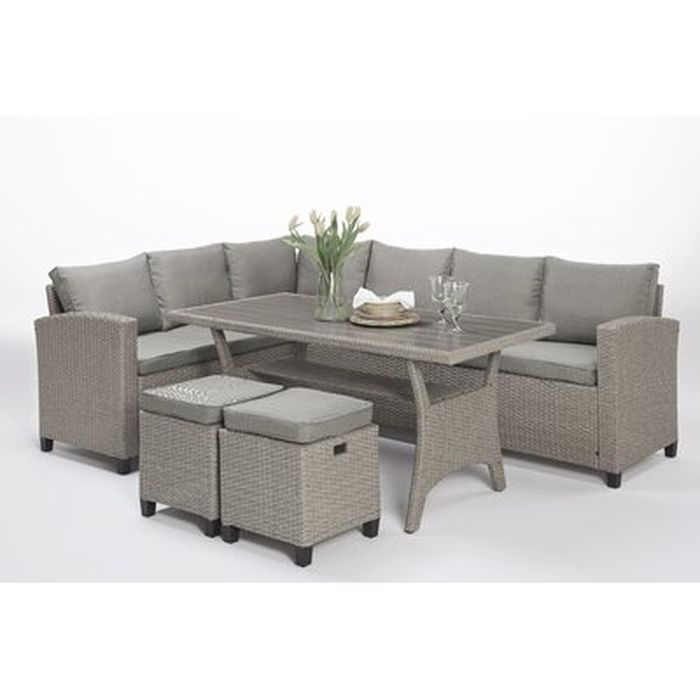 Brune 5 Piece Sectional Seating Group With Cushions Wayfair