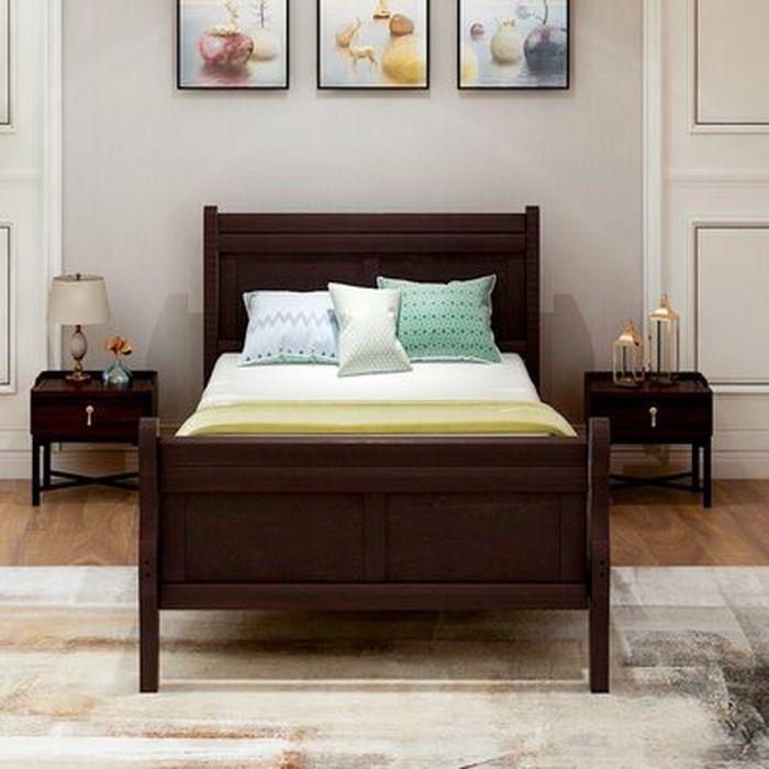 Ahmadi Twin Solid Wood Low Profile Platform Bed Wayfair