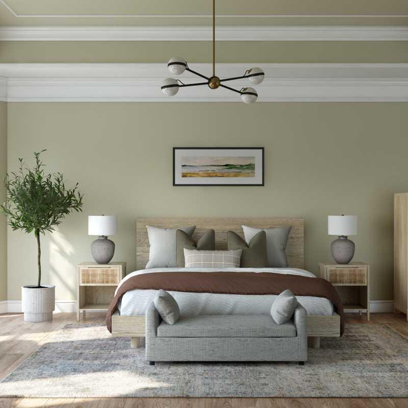 Modern, Coastal, Farmhouse Bedroom Design by Havenly Interior Designer Astrid