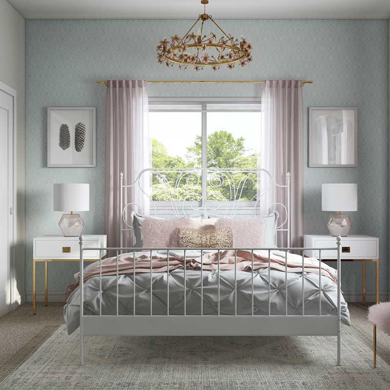 Contemporary, Glam, Preppy Bedroom Design by Havenly Interior Designer Fendy