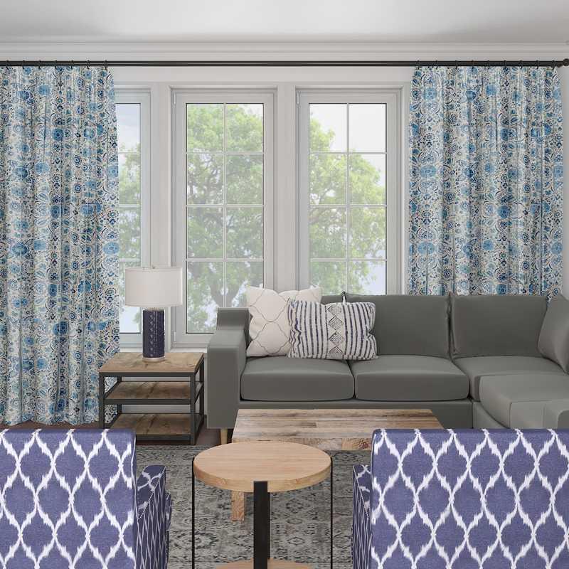 Classic, Farmhouse Living Room Design by Havenly Interior Designer Jillian