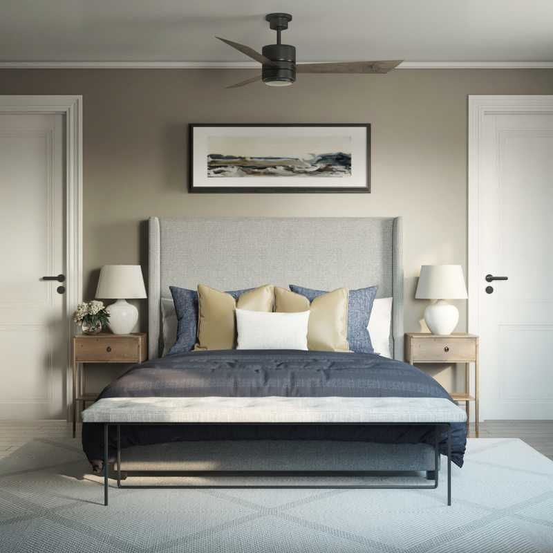 Contemporary, Classic, Transitional Bedroom Design by Havenly Interior Designer Stacy