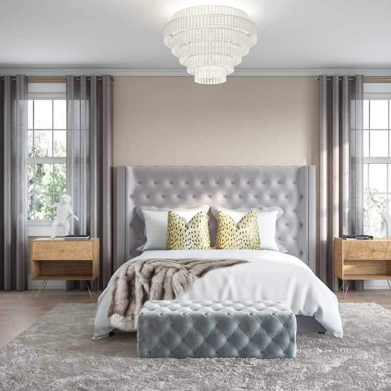 Modern, Classic, Glam, Industrial Bedroom Design by Havenly Interior Designer Lauren