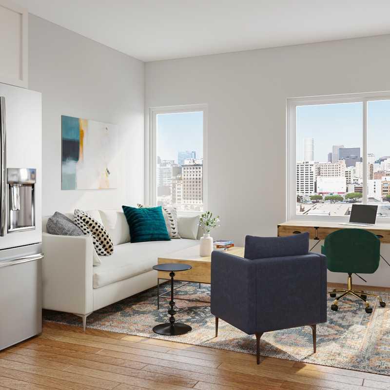 Midcentury Modern Living Room Design by Havenly Interior Designer Megan