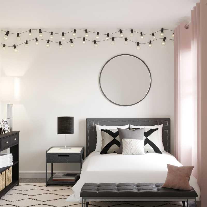 Bohemian, Minimal, Scandinavian Bedroom Design by Havenly Interior Designer Dani