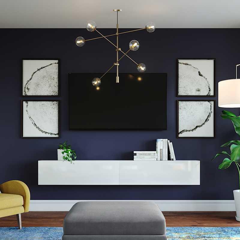 Modern, Glam, Midcentury Modern Living Room Design by Havenly Interior Designer Hannah