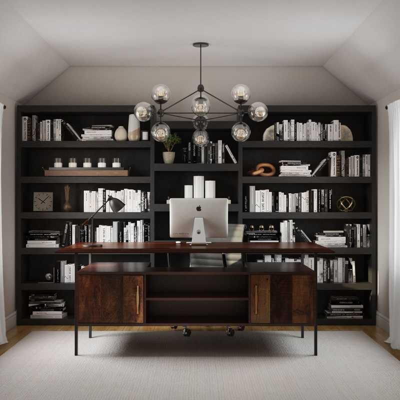 Modern, Industrial, Scandinavian Office Design by Havenly Interior Designer Madison