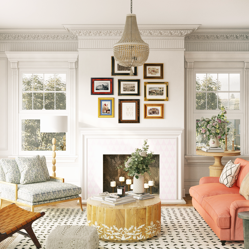 Eclectic, Bohemian, Global  Design by Havenly Interior Designer