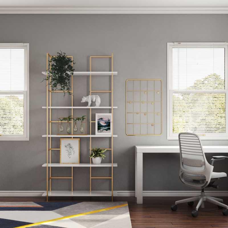 Glam Office Design by Havenly Interior Designer Izzy