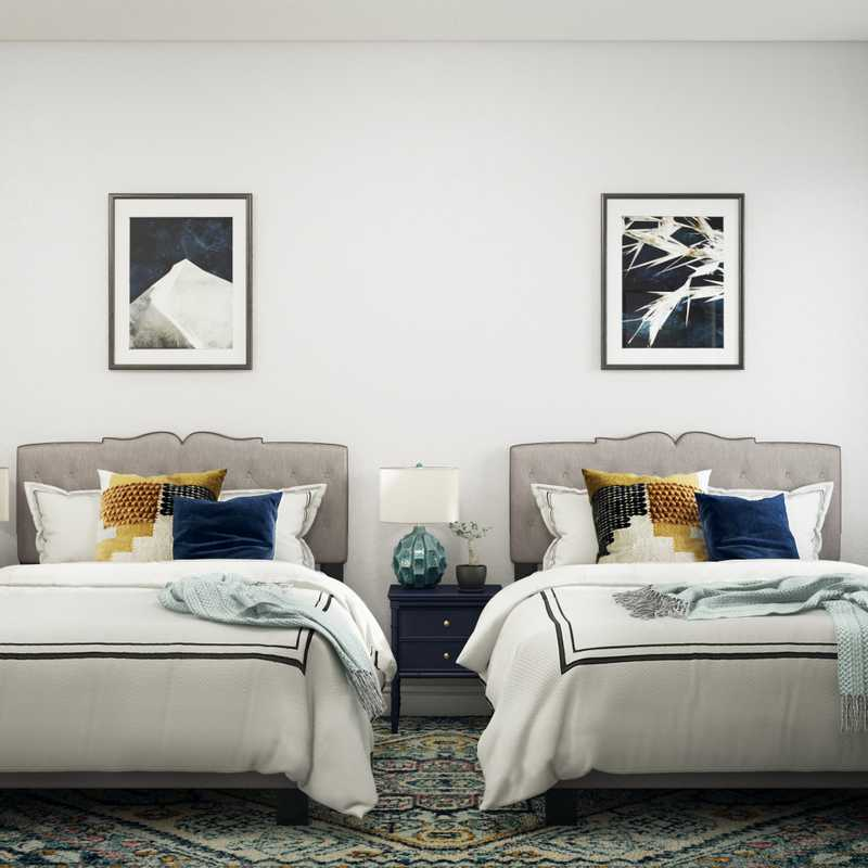 Modern, Eclectic, Glam, Transitional Bedroom Design by Havenly Interior Designer Fiona