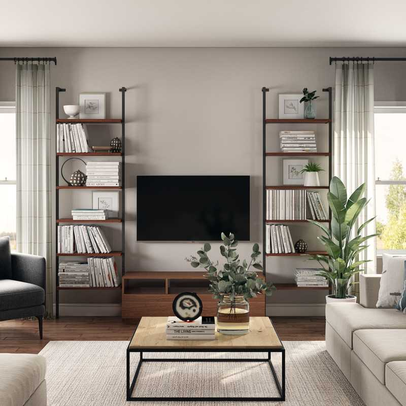Contemporary Living Room Design by Havenly Interior Designer Hannah