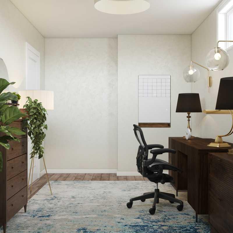 Bohemian, Scandinavian Office Design by Havenly Interior Designer Kate