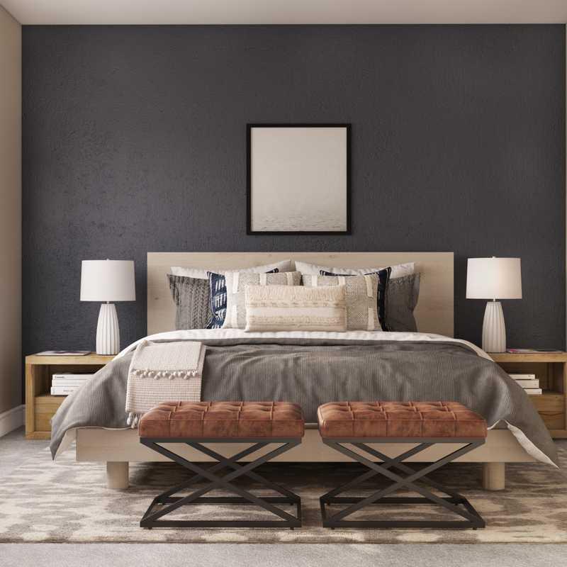 Contemporary, Modern, Midcentury Modern Bedroom Design by Havenly Interior Designer Laura