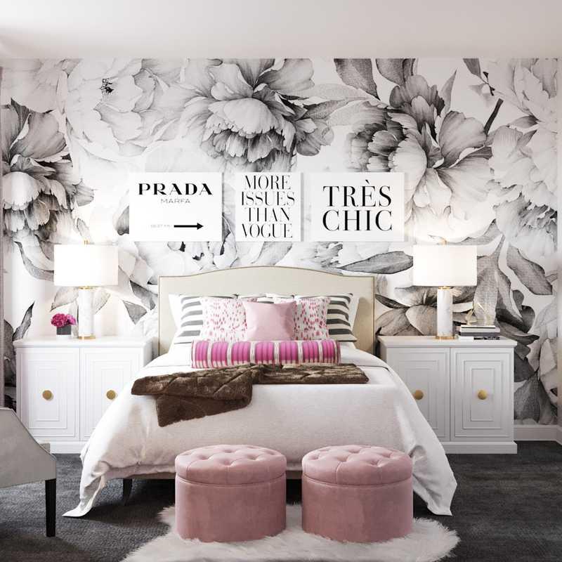 Contemporary, Glam Bedroom Design by Havenly Interior Designer Hannah
