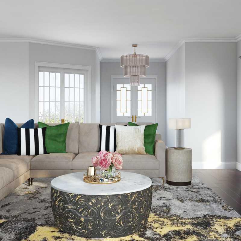 Glam, Transitional Living Room Design by Havenly Interior Designer Jasmine