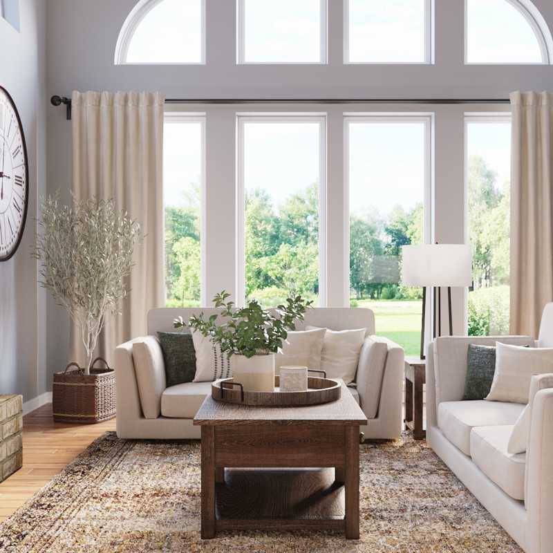 Modern, Classic, Bohemian Living Room Design by Havenly Interior Designer Stacy