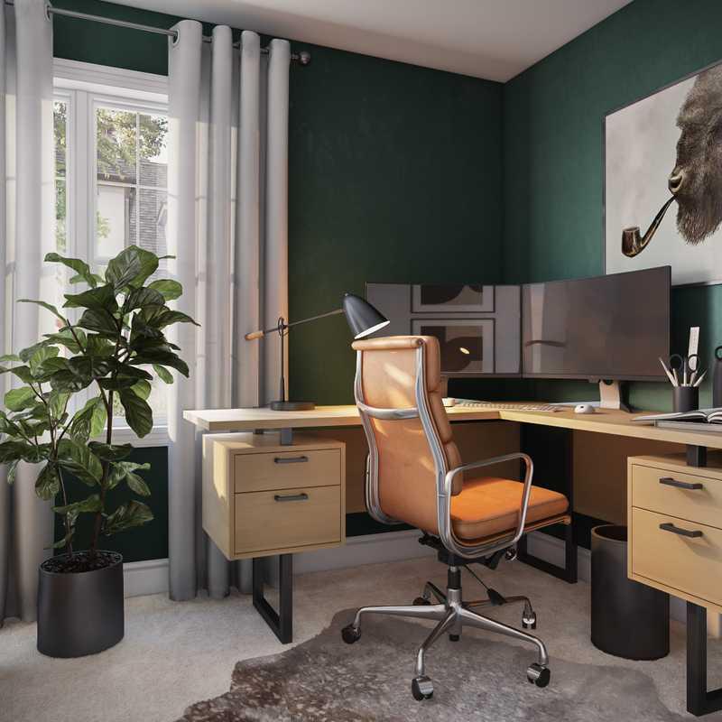 Midcentury Modern Office Design by Havenly Interior Designer Astrid