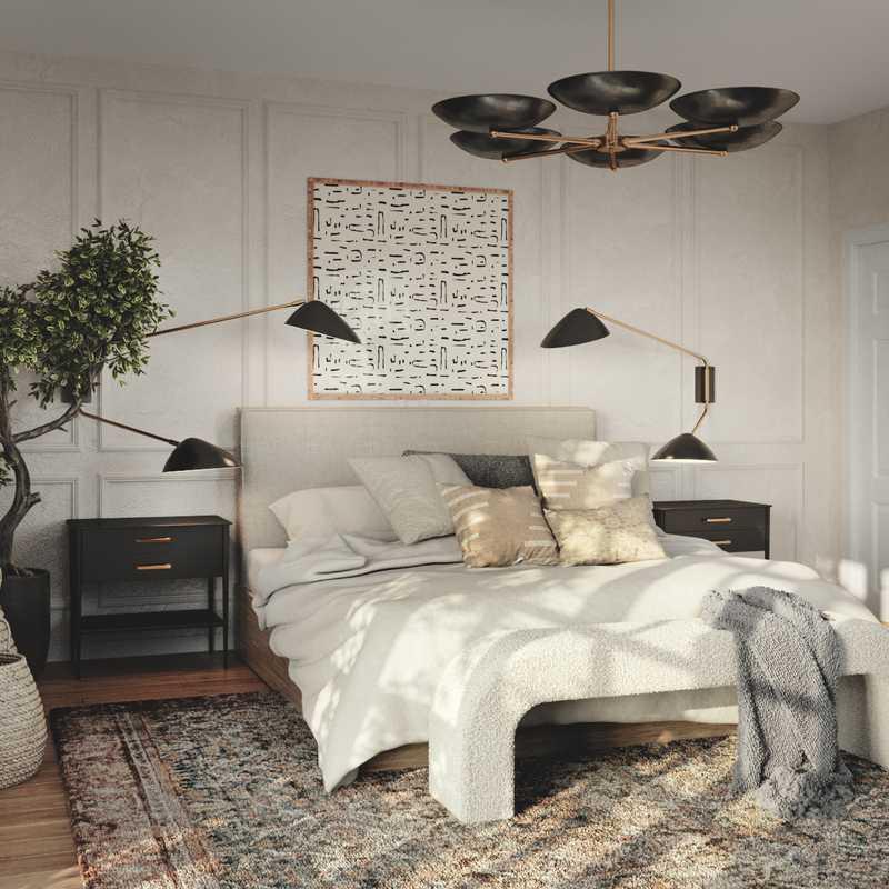 Contemporary, Eclectic, Bohemian Bedroom Design by Havenly Interior Designer Ghianella