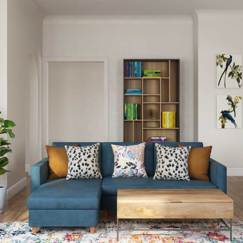 Eclectic, Bohemian, Glam, Midcentury Modern Living Room Design by Havenly Interior Designer Bethany