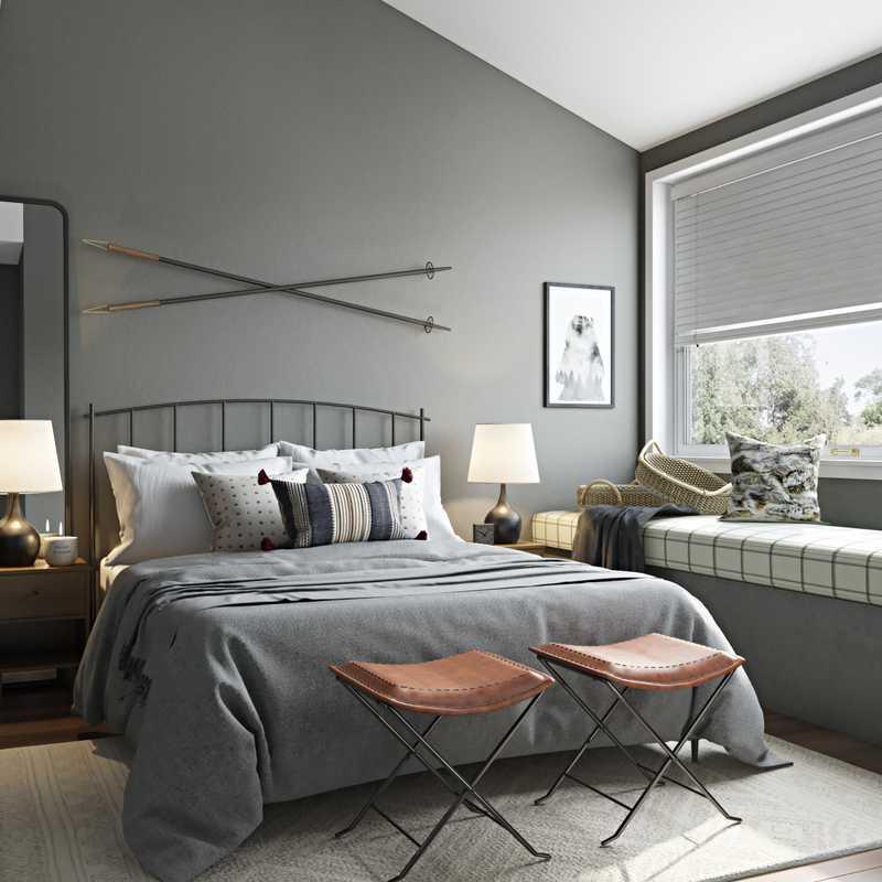 Modern, Rustic Bedroom Design by Havenly Interior Designer Brenna