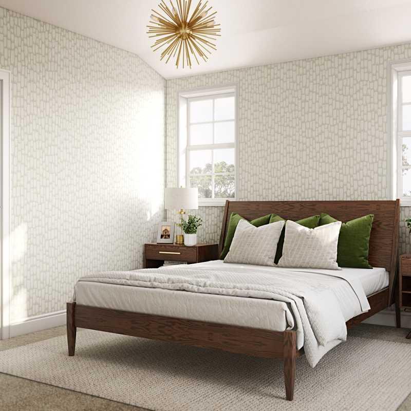 Midcentury Modern Bedroom Design by Havenly Interior Designer Taylor