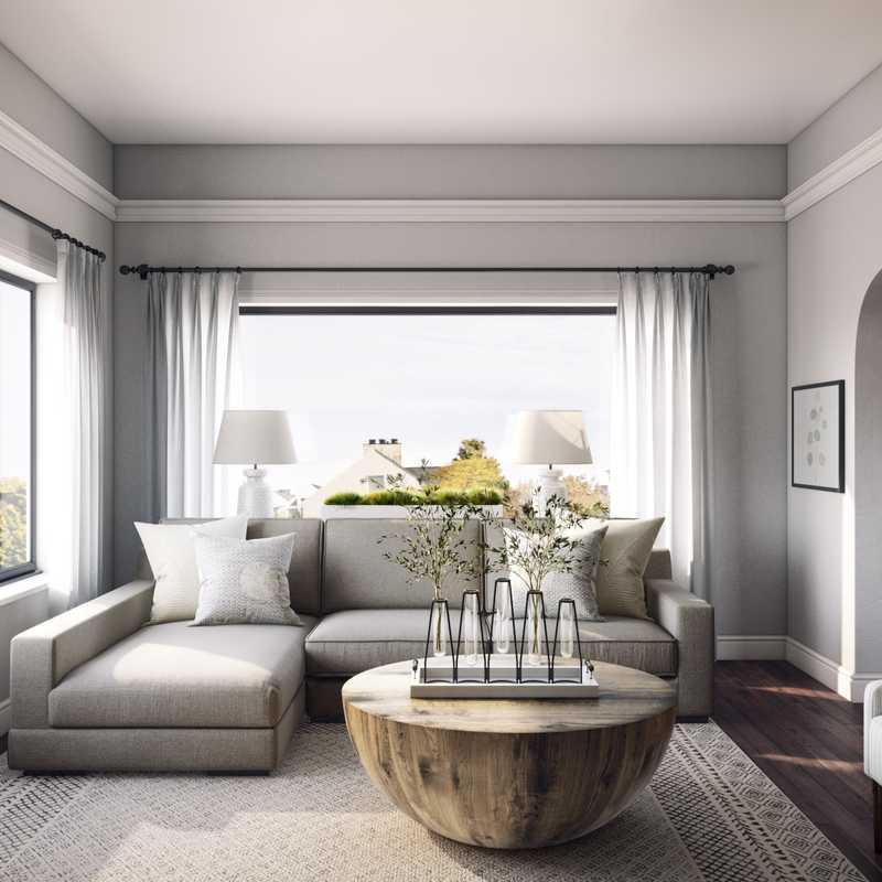 Contemporary, Industrial, Farmhouse Living Room Design by Havenly Interior Designer Laura