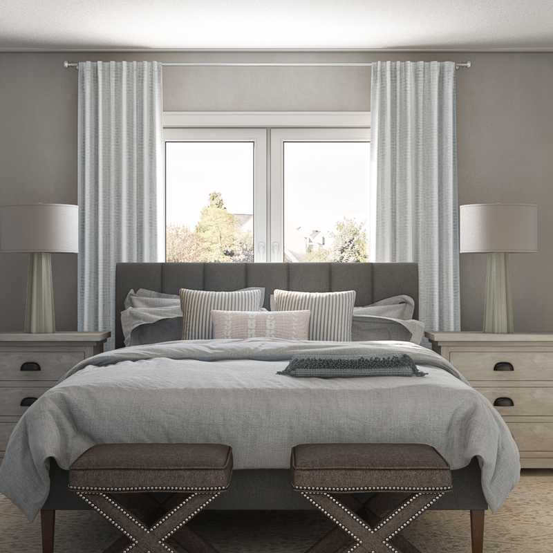 Contemporary, Coastal Bedroom Design by Havenly Interior Designer Allison