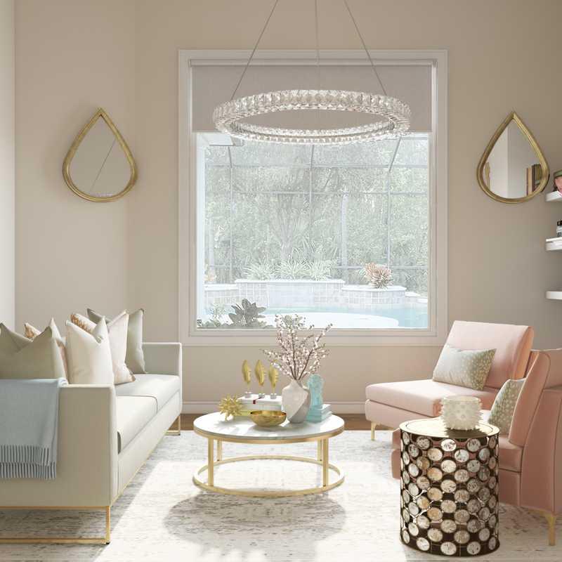 Contemporary, Glam Living Room Design by Havenly Interior Designer Melisa