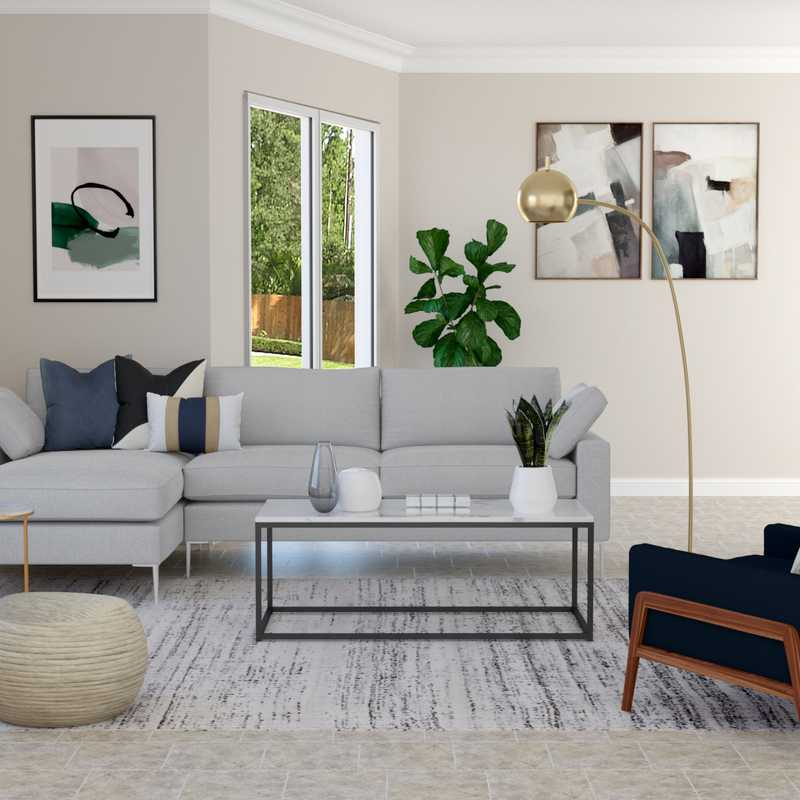 Contemporary, Modern, Glam Living Room Design by Havenly Interior Designer Geetha