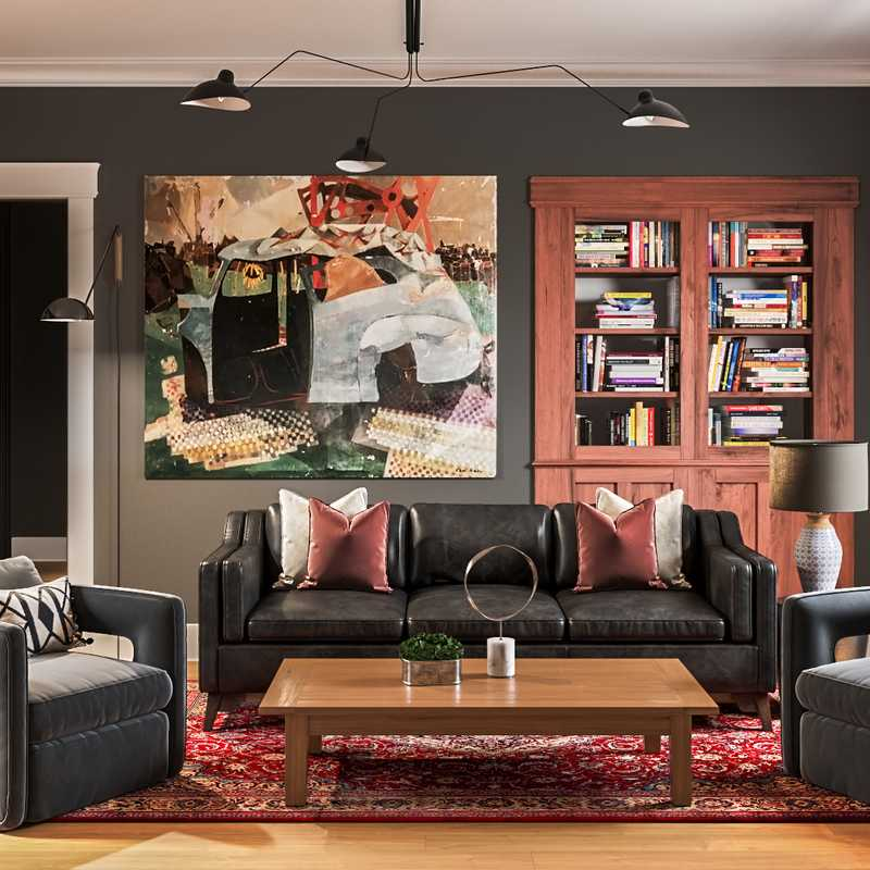 Classic, Traditional Living Room Design by Havenly Interior Designer Levi