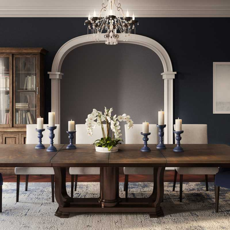 Classic, Transitional Dining Room Design by Havenly Interior Designer Tracie