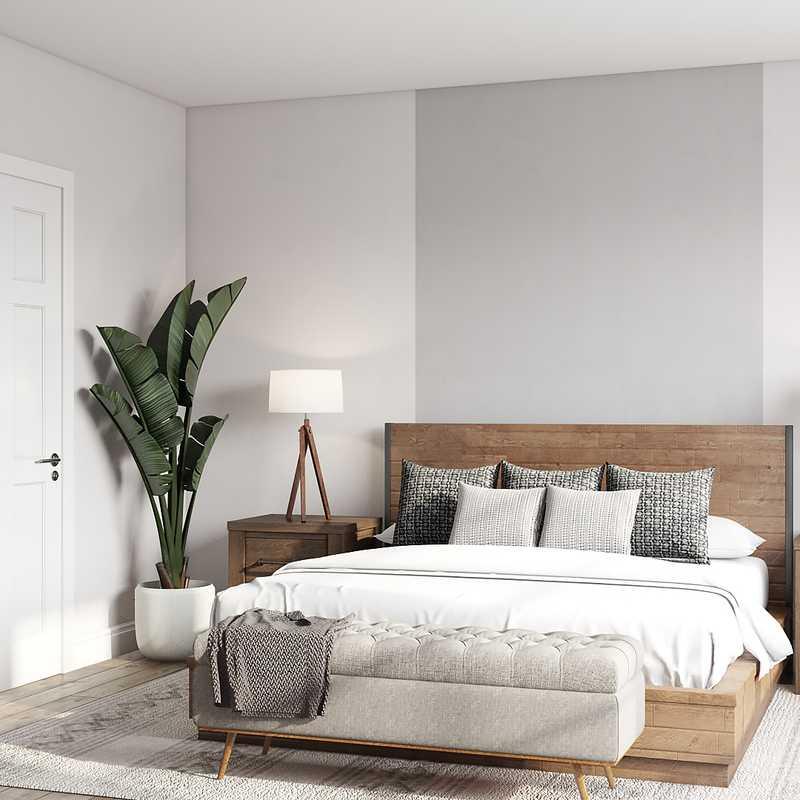 Industrial, Midcentury Modern, Minimal Bedroom Design by Havenly Interior Designer Olivia