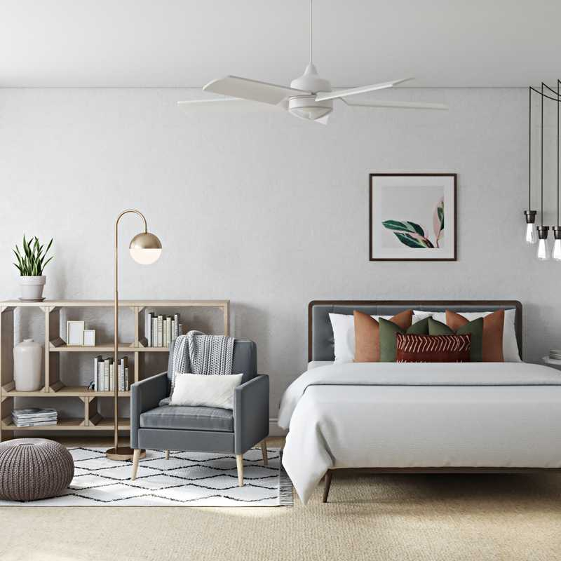 Bohemian, Midcentury Modern, Scandinavian Bedroom Design by Havenly Interior Designer Eva
