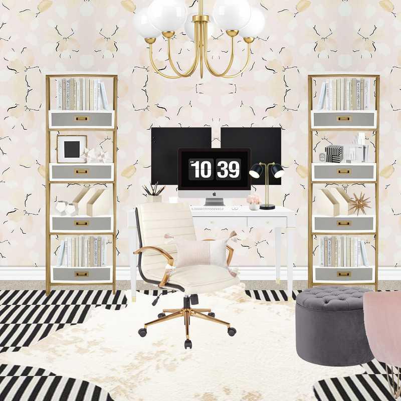 Modern, Glam Office Design by Havenly Interior Designer Hannah