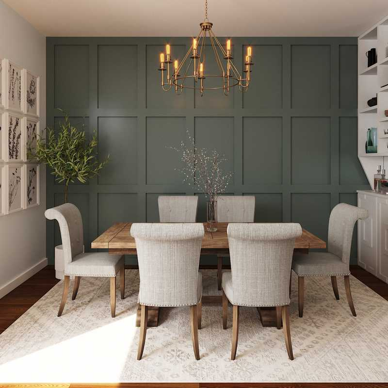 Farmhouse Dining Room Design by Havenly Interior Designer Katie