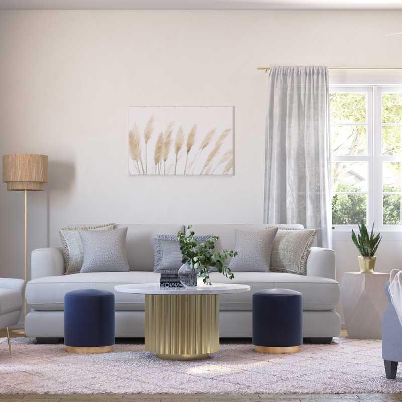 Classic, Bohemian, Midcentury Modern, Minimal, Scandinavian Living Room Design by Havenly Interior Designer Christine