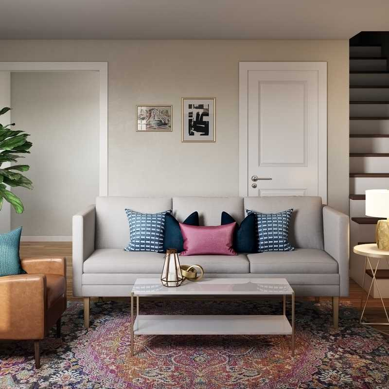 Eclectic, Bohemian, Glam, Global Living Room Design by Havenly Interior Designer Laura