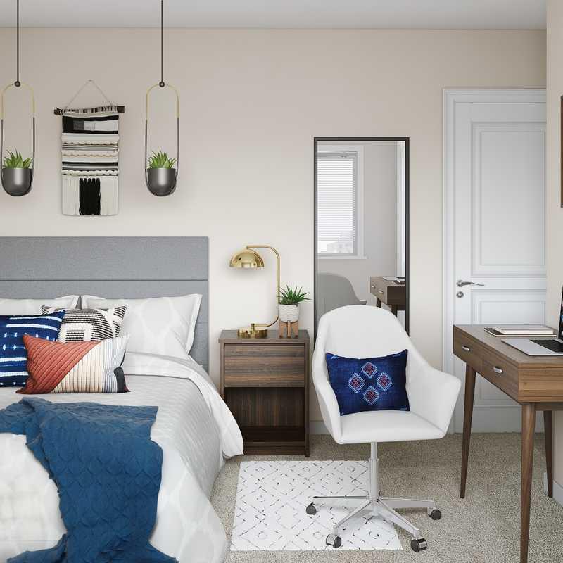 Bohemian Bedroom Design by Havenly Interior Designer Fendy