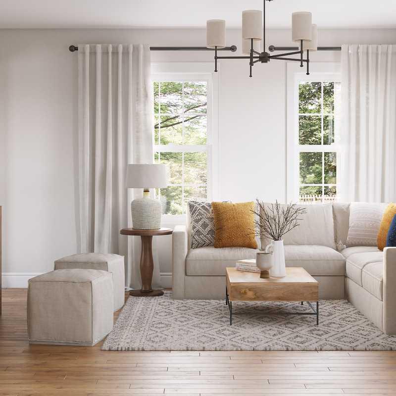 Farmhouse, Rustic Living Room Design by Havenly Interior Designer Luisa