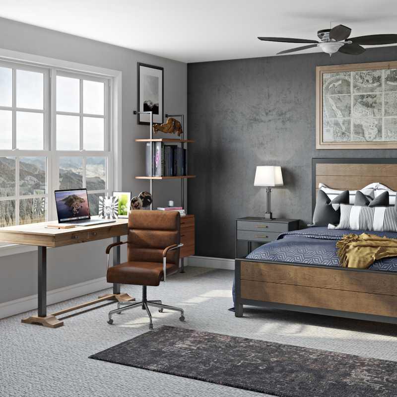 Rustic Office Design by Havenly Interior Designer Brady
